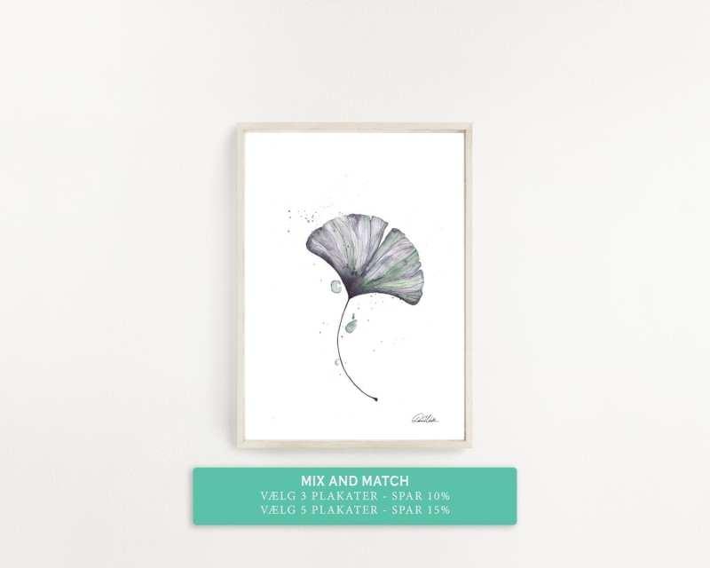 enkel plakat med grønt blad