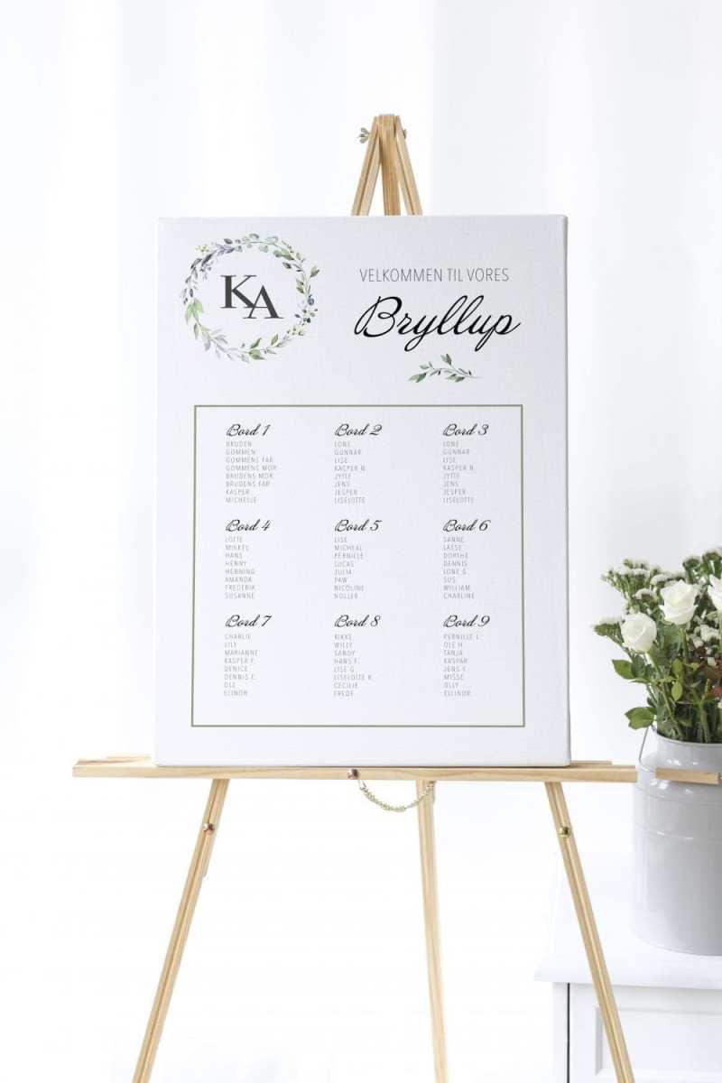 Bordplan, bryllup