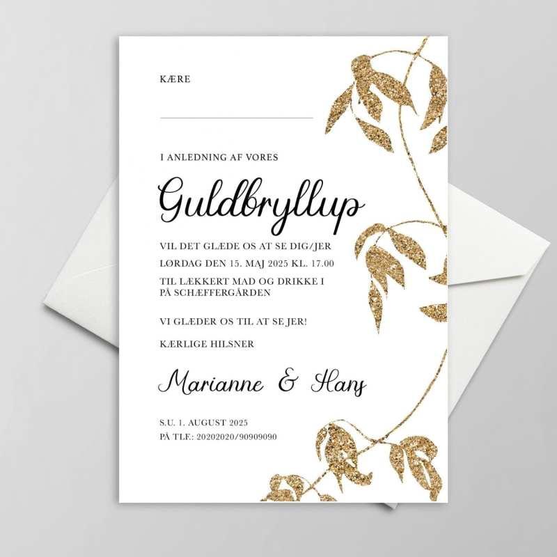 Enkel invitation til guldbryllup