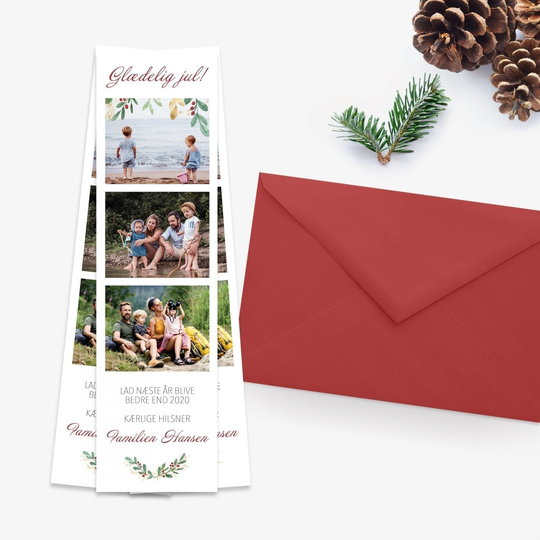 glædelig jul julekort med fotos