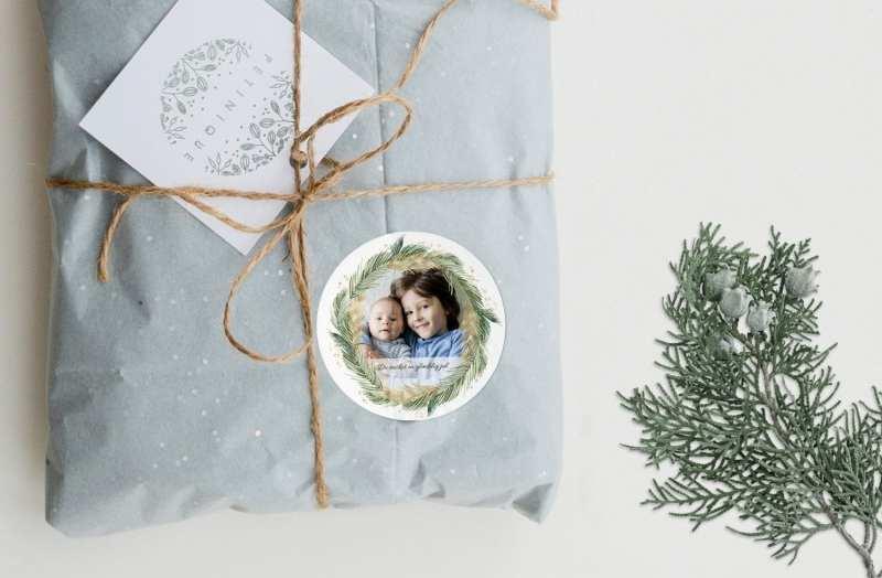 personlige stickers til julegave