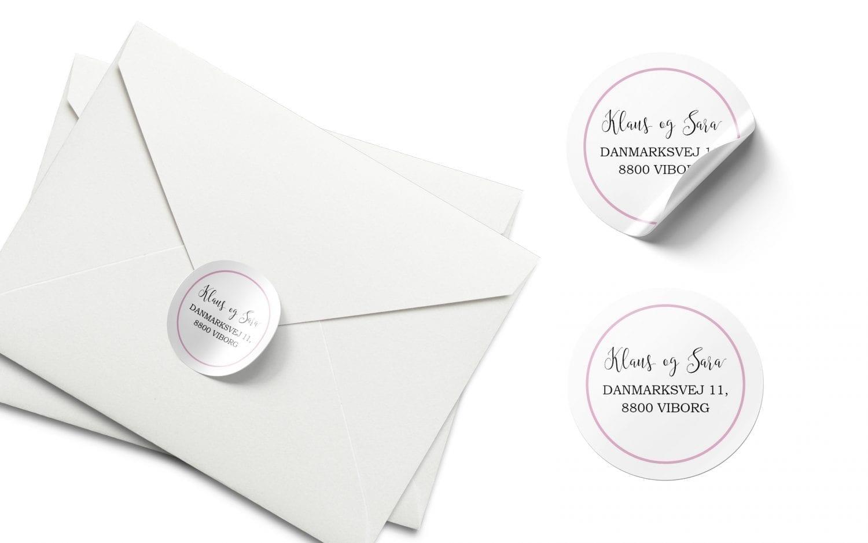 Stickers lyserød og hvid