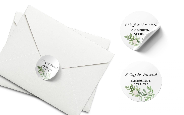 Stickers barnedåb hvide blomster