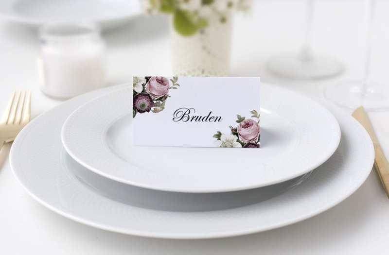 bordkort bryllup vintage bryllup
