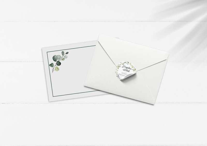 kuverter og stickers