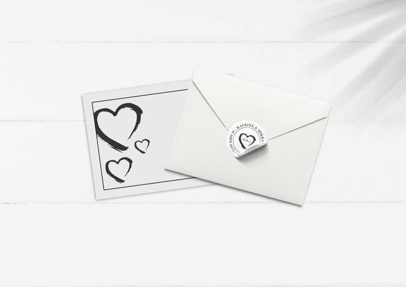kuverter med hjerte