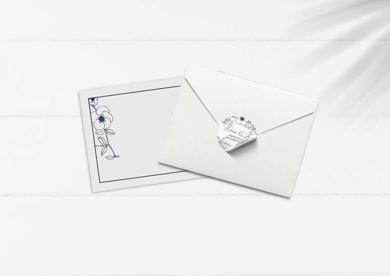 klistermærker til invitation