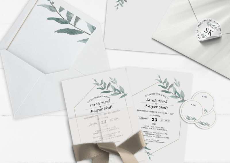Invitationer simple branch simpelt enkelt