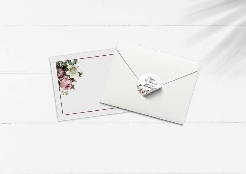 kuverter med store blomster