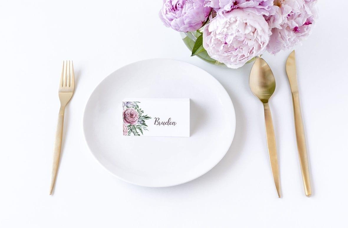 Boheme Dreams, bordkort, bryllup