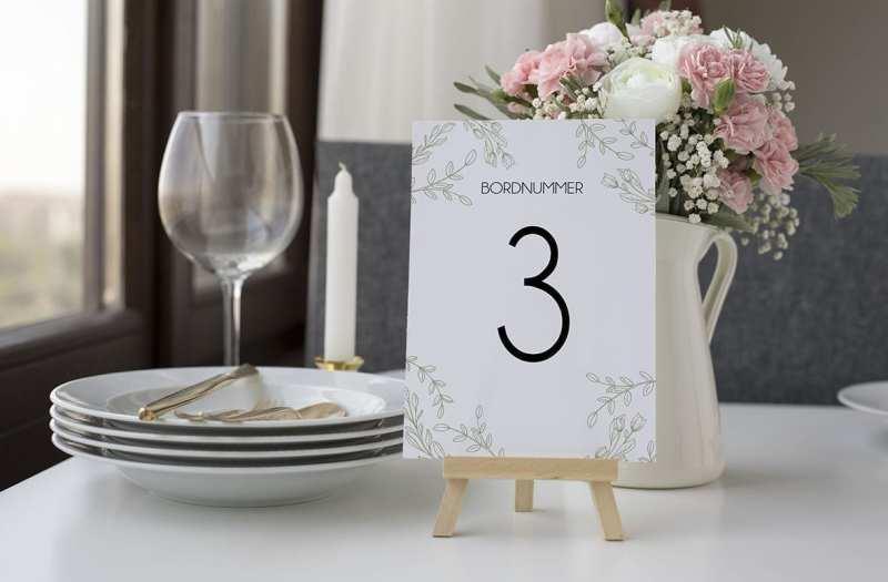 bordnummer, limb moss, fest, pynt opdækning, bordopdækning