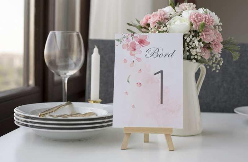 Cherry Blossom, bordnummer, bryllup