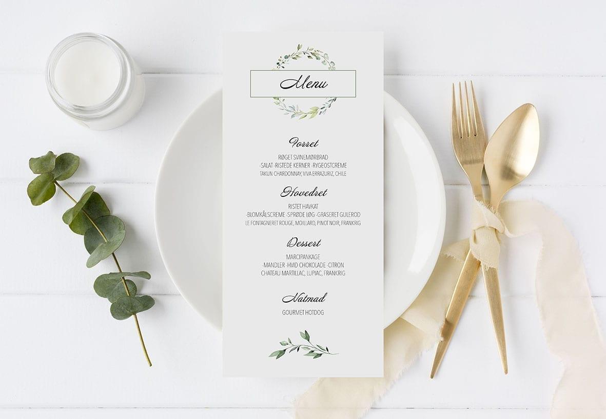 menu simpelt krans dusty green
