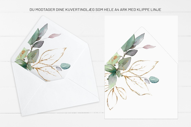 Gold Leaf, kuvertindlæg, bryllup