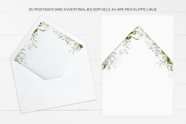 Greenery Kalker, kuvertindlæg, bryllup