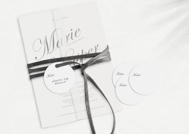 Kaligrafitti, manillamærke, bryllup