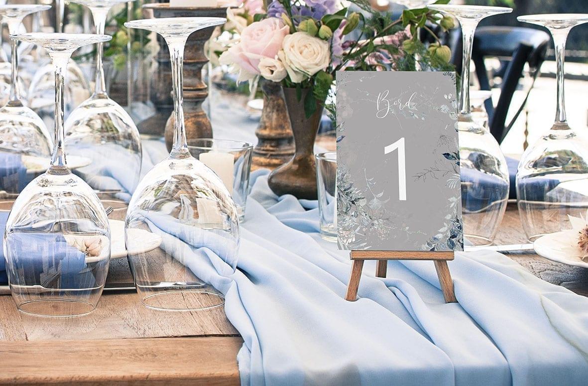 bordnummer, magical greys, fest, pynt opdækning, bordopdækning