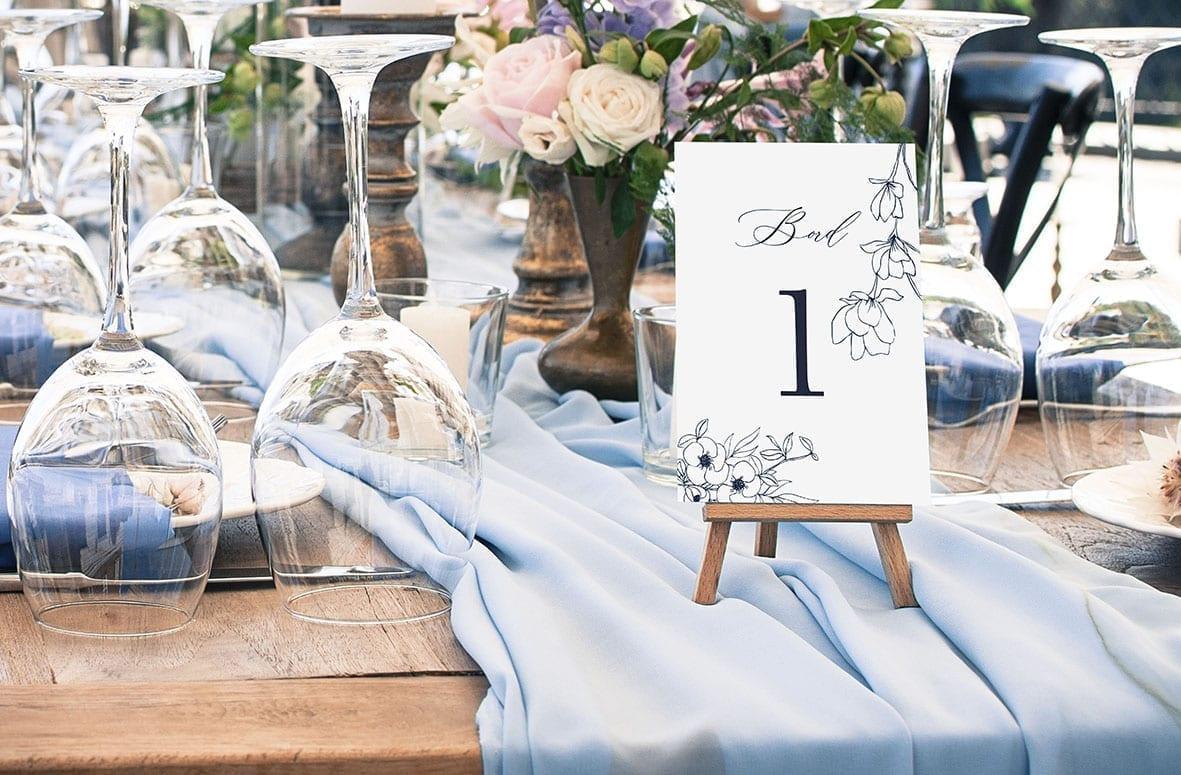 bordnummer, nebula, fest, pynt opdækning, bordopdækning