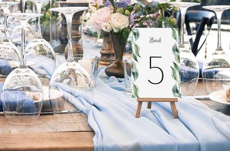 bordnummer, olive garden, fest, pynt opdækning, bordopdækning