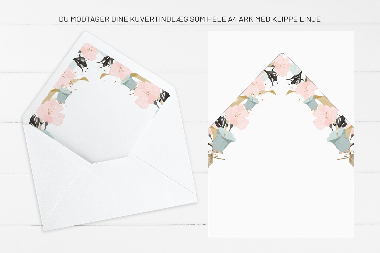 Pale Blue, kuvertindlæg, bryllup