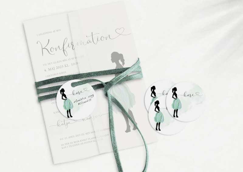 Silhuette Green, konfirmation, manillamærke