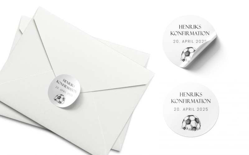 Soccer Goal, konfirmation, stickers