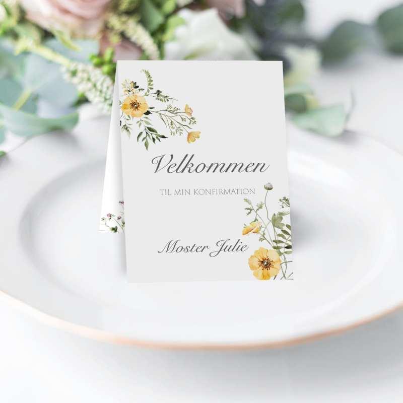 Kombi kort til menu og sange midsummer dreams