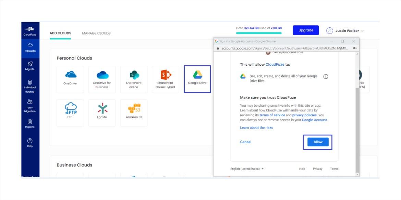 Second Google Drive Account