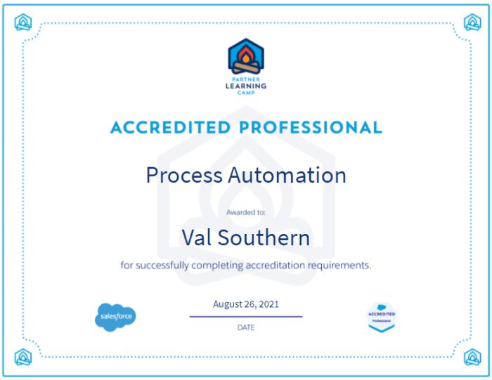 Salesforce Process Automation Accreditation