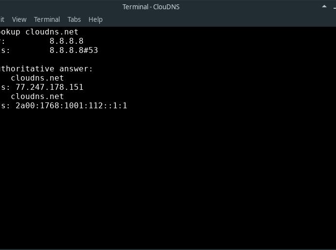 Command line: $ nslookup