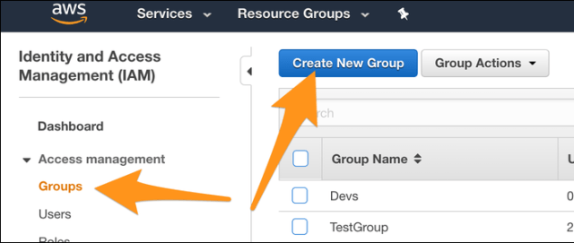 """Create  new group from """"Groups"""" tab."""