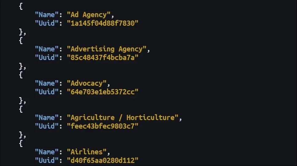 Screenshot of HTTPie JSON output