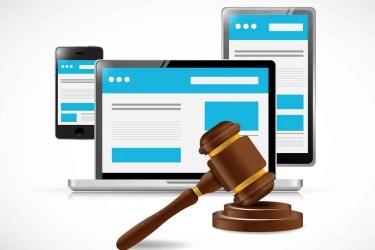 internet copyright protection law illustration