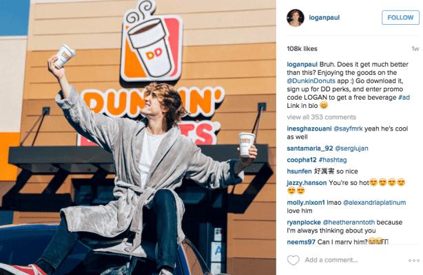 Logal Post di Instagram di Paul