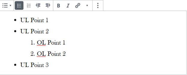 gutenberg list block