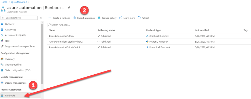 Azure VPN Verbindung mit einer dynamischen IP-Adresse - Runbook importieren