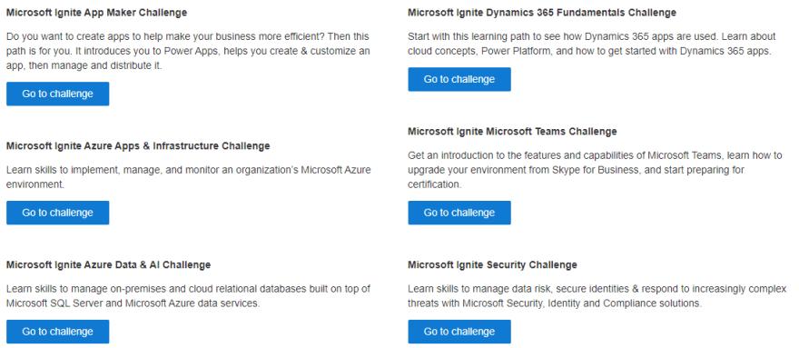 Kostenlosen Microsoft Exam Voucher erhalten - Microsoft Ignite Cloud Skills Challenge 2020.