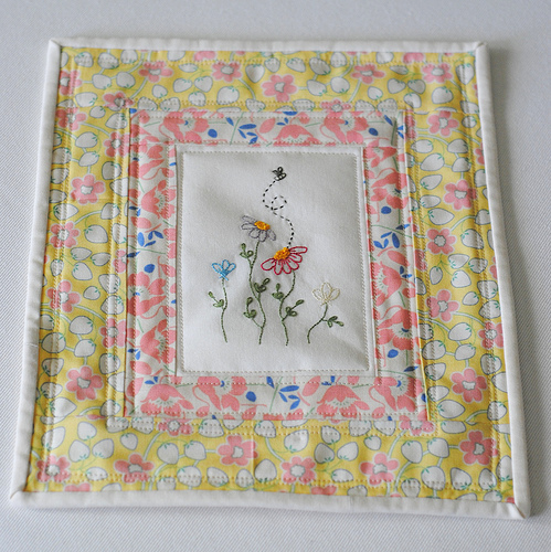 Embroidery Mini Quilt