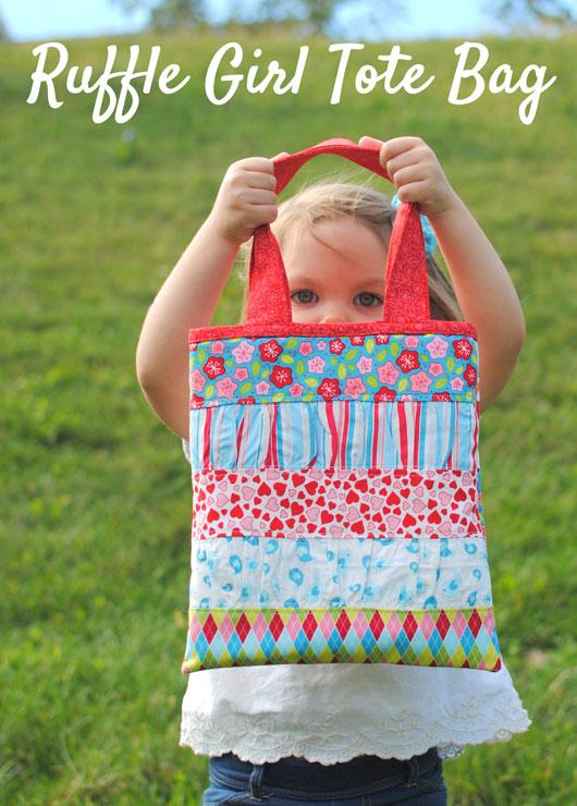 Ruffle-Girl-Tote-Bag