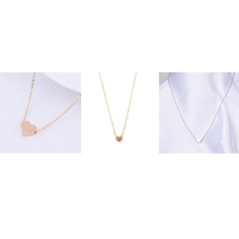 Gold Chain Choker Necklace Heart Shape Pendent Necklace Long Chain Delicate Fashion Choker Necklace Jewelry Gift for Women GIFTS CLOVER JEWELLERY
