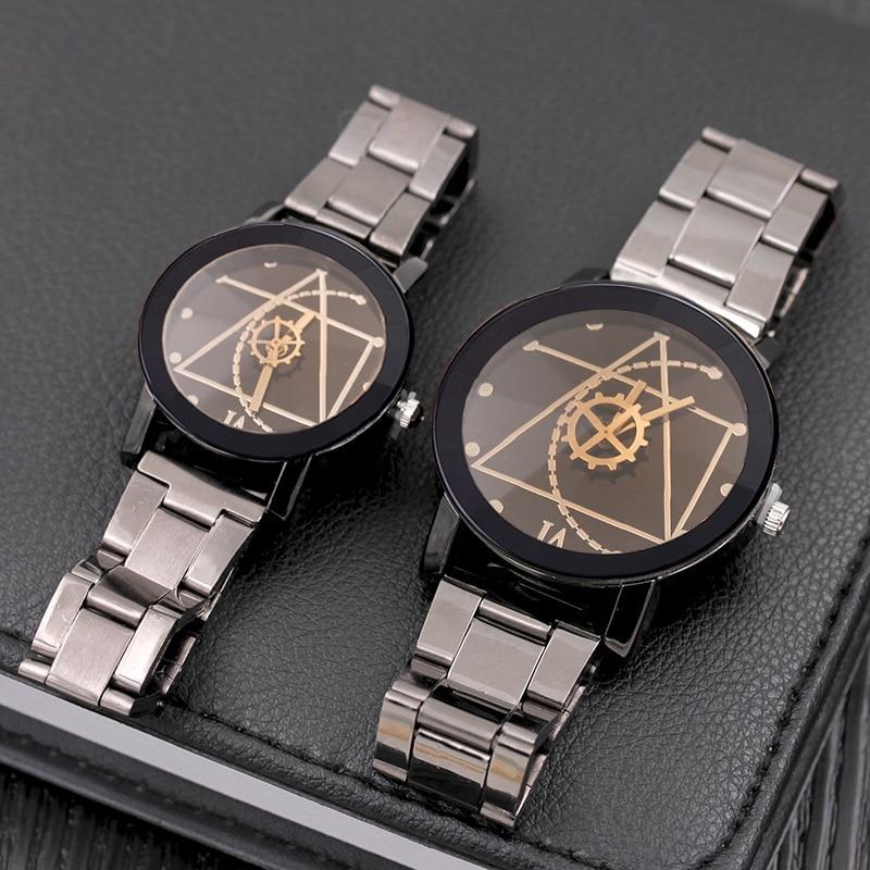 Splendid Original Brand Couple Watch Men Watch Women Stainless Steel Fashion Pair Watches Clock CLOVER JEWELLERY