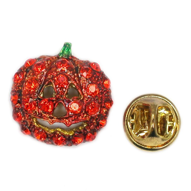 Halloween Orange Enamel Pumpkin Pins Pumpkin Banquet brooch pins Jewelry(12pcs /lot) CLOVER JEWELLERY