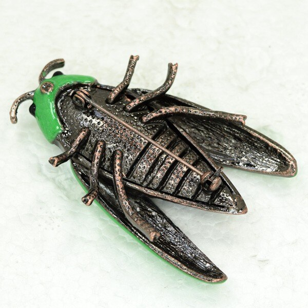 12pcs/lot Wholesale Fashion Brooch Rhinestone Enamel Wing Bug Pin brooches Costume coat jewelry CLOVER JEWELLERY