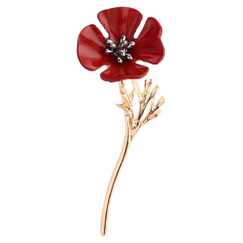 Red Four Leaf Clover Brooches Mother's Gift Pin Acrylic Brooch Pin CLOVER JEWELLERY