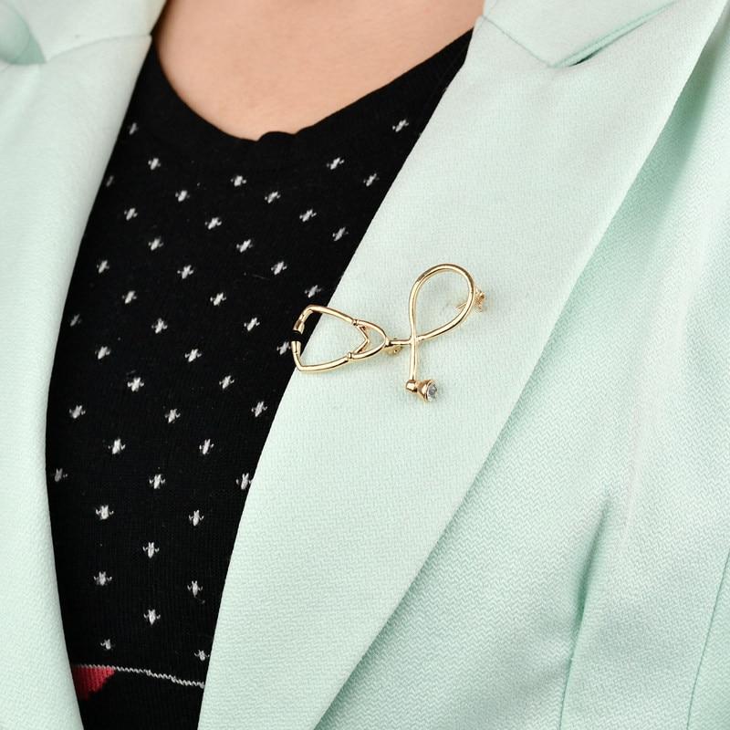 Doctor Nurse Stethoscope Brooch (2 Color) CLOVER JEWELLERY