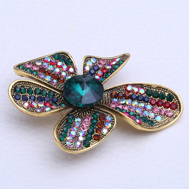 Four Leaf Flower Shape Brooches Pin Bridal Jewelry CLOVER JEWELLERY