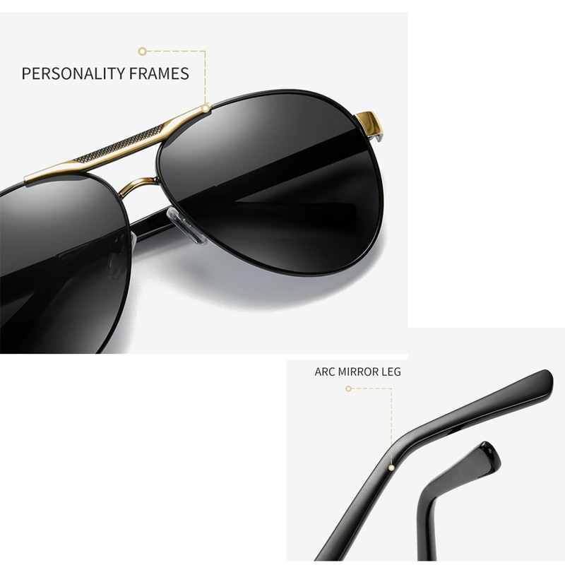 High-Quality Men's Polarized Sunglasses for Outdoor Sports Driving CLOVER JEWELLERY