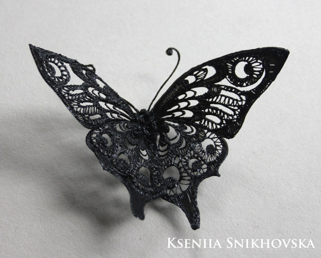 3d painted butterfly
