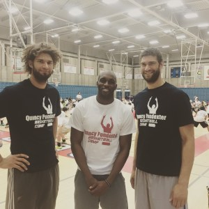 Photo courtesy of Quincy Pondexter  Memorial High School teammates (class of 2006) and current NBA players Quincy Pondexter and twins Brook and Robin Lopez pose together after reuniting at Pondexter's camp. The trio talked to the campers about the importance of education and hard work.