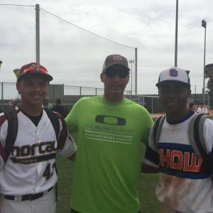 Photo courtesy of Terance Frazier Matt Frazier of Clovis North had a summer to remember which included meeting former MLB pitcher Andy Pettitte in Arizona. Frazier competed in many tournaments across the nation including traveling to Florida.